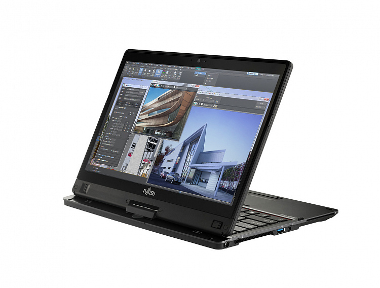 Ноутбук-трансформер Fujitsu LIFEBOOK T937 Ultrabook™ Tablet PC Full HD Touch Anti-glare + порт-репликатор Fujitsu LKN:T9370M0004RU/SSD256GB/WIN10PRO